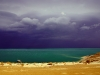 Storm over the Dead Sea.